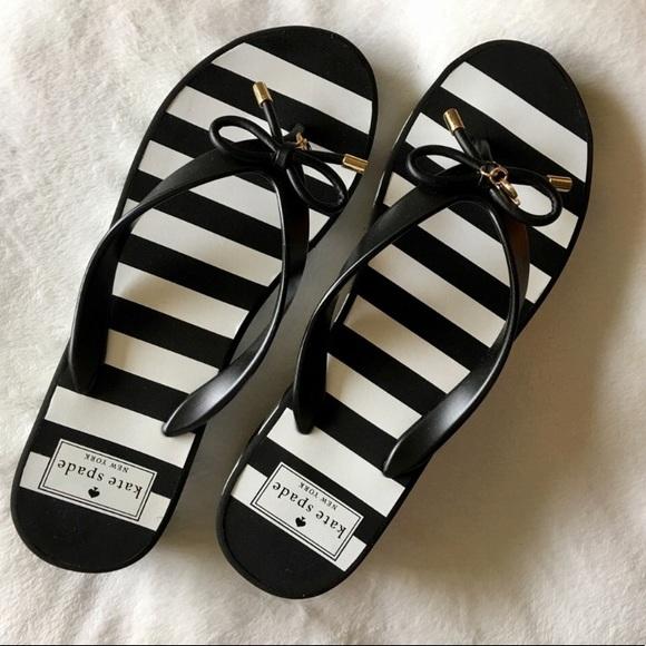 92cbae2eb4b1 kate spade Shoes - NWOT♤ Kate Spade Rhett Striped Wedge Flip Flop